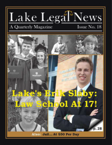 Erik Slaby Lake Legal News
